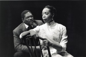 As Dr. Jefferson Campbell, trying to explain his feelings to Jacqueline Williams as Melanctha (PHOTO: Lia Lauren)