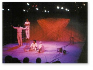 Johnny Lee Davenport, Michael E. Myers, Pat Bowie, and Synthia Hardy in the 1987 Great Chicago Playwrights Exposition production of 'Takunda'