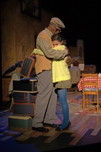 Granddad Stan (Johnny Lee Davenport) and Esme (Maria Ferraguto) say goodbye at the end of her visit. (PHOTO: Sue D. Andrews)