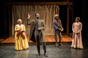 "Greta Oglesby, Cedric Mays, Johnny Lee Davenport,and Jennifer Latimore in ""The African Company Presents Richard III."" (PHOTO: Liz Lauren)"