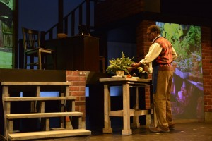 Dr. Larabee has more interest in his plants than in people. (PHOTO: Wheelock Family Theatre)
